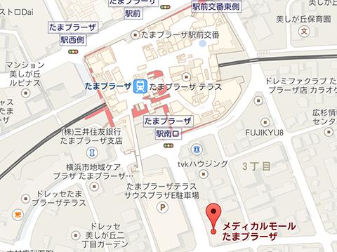たまプラーザ駅周辺地図